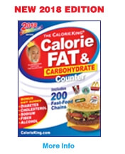 The Calorie King Calorie, Fat and Carbohydrate Counter 2018 Edition
