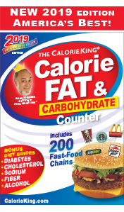 The Calorie King Calorie, Fat and Carbohydrate Counter 2019 Edition